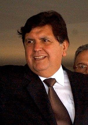 {{pt|O presidente do Peru Alan García em Brasí...