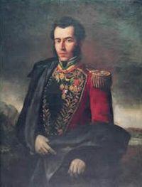 Antonio José de Sucre, Gran Mariscal de Ayacucho. Óleo sobre tela.