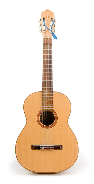A Classic guitar with six strings