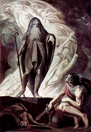 Tiresias appears to Ulysses during the sacrificing