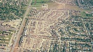 Moore, Oklahoma tornado damage, May 1999