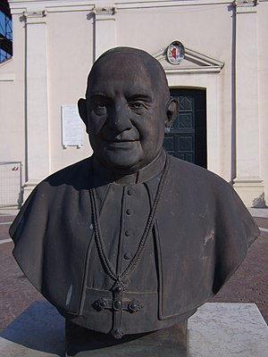 English: Pope John XXIII at Porto Viro (Rovigo...