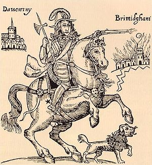 """Prince Rupert and his """"familiar"""" dog..."""