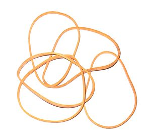 Rubber band (Elastic). Deutsch: Gummibänder