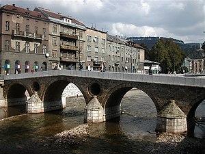 Latin bridge (prev. Princip bridge) in Sarajev...