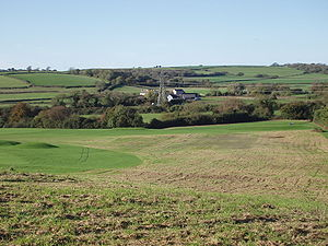 Looking across the Vale of Glamorgan on Brynhi...