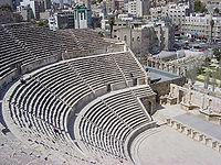 El anfiteatro romano de Ammán.