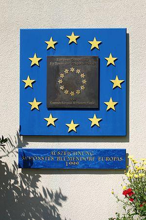 Deutsch: Bad Schönau Auszeichnung als Europa-B...