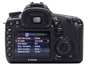 Canon EOS 7D Rear view.