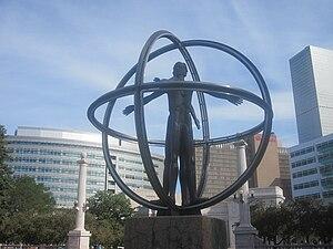 English: Christopher Columbus monument, Denver...