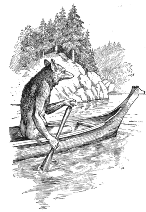 Anthropomorphic Coyote trickster, from North A...