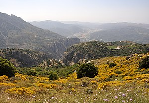 Landscape near the village of Kera (Crete, Greece)