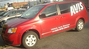 Dodge Grand Caravan photographed in Montreal, ...