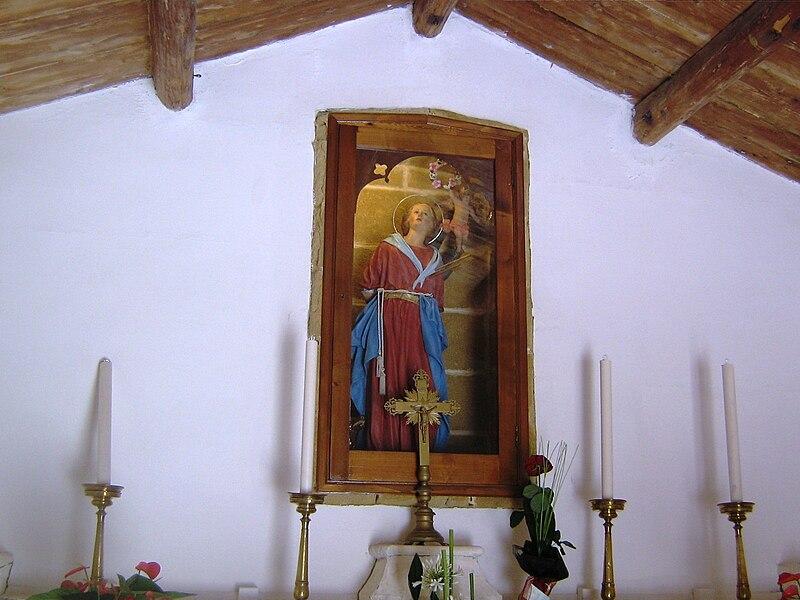 Statua di Santa Cristina nella chiesetta omonima