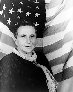 Gertrude Stein, photographed by Carl Van Vecht...