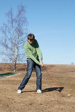 English: Golfer in Yyteri Golf Links.