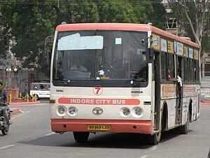 English: Indore City Bus in Indore, India