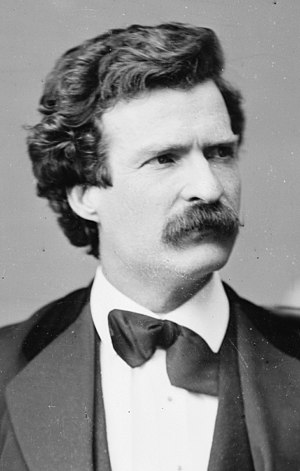 Mark Twain photo portrait.