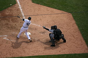Miguel Cabrera batting for the Detroit Tigers....