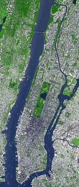 Artists conception - Manhattan covered with solar cells