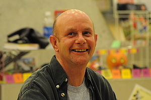 Nick Hornby signing books at Central Library, ...