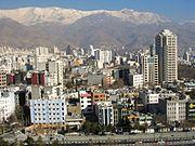 نمایی از رشته کوههای البرز در شمال تهران