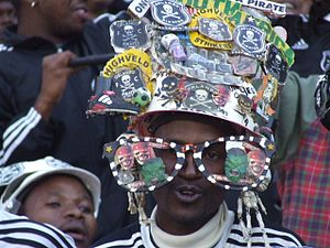 English: orlando pirates fans.