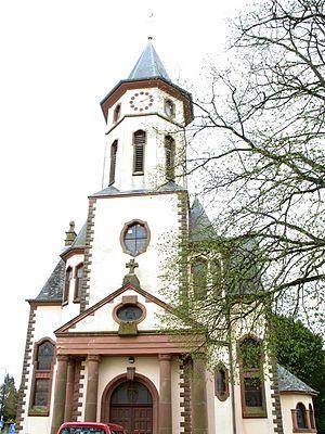 Français : L'église de Redange (Luxembourg) Lë...