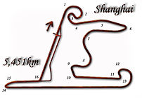 Diagram of the Shanghai International Circuit ...