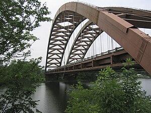 View of the Thaddeus Kosciusko Bridge (Twin Br...