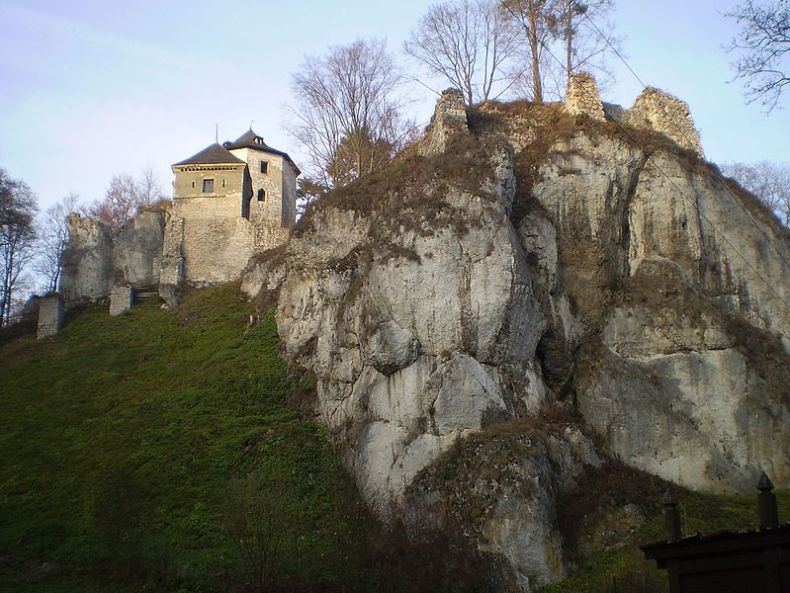 File:Zamek w Ojcowie - panoramio.jpg
