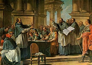 English: St. Augustine arguing with donatists.