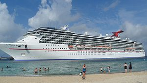 English: Carnival Miracle docked in Grand Turk...