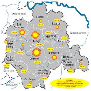 Deutsch: KREIS LIPPE (Deutschland, Nordrhein-W...