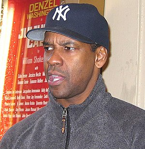 Denzel Washington after a performance of the B...