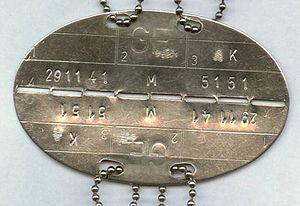 """Military identity disk (""""dog tag"""") of the Germ..."""
