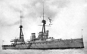 HMS Invincible (1907) British Battleship.jpg