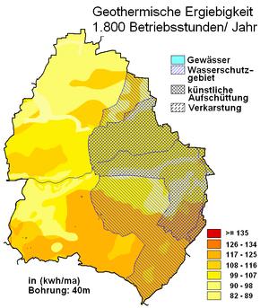 geothermische Karte Löhne
