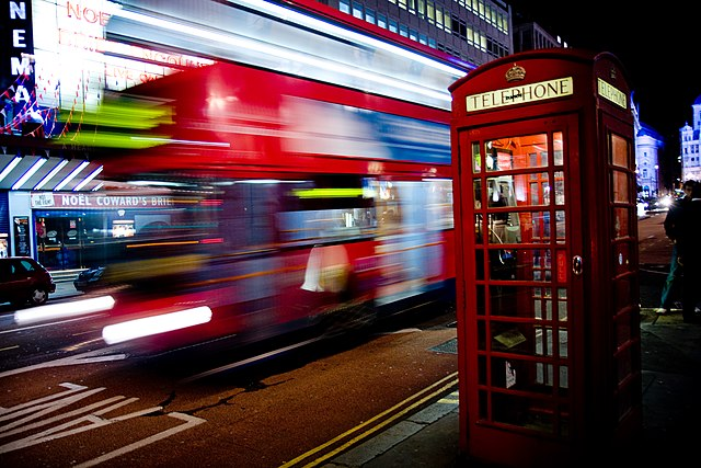 Motion Blurred London Bus