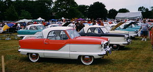 English: Metropolitan automobile car club meet...