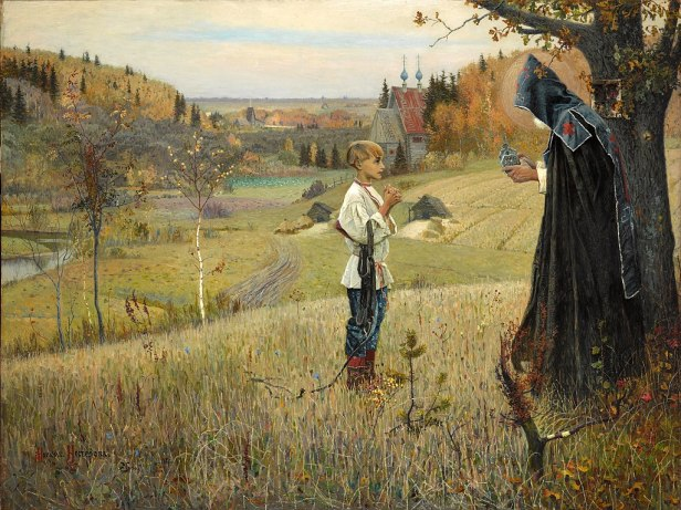 """The Vision to the Youth Bartholomew"" by Mikhail Nesterov"
