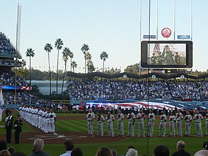 The Los Angeles Dodgers and Philadelphia Phill...