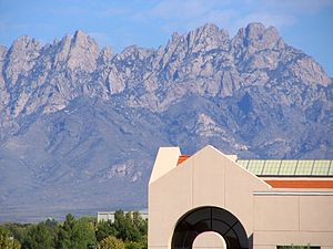 Zuhl Library with Organ Mountains in the backg...