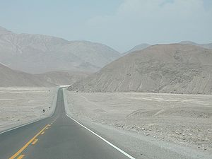 Panamericana in the Atacama Desert southern Pe...