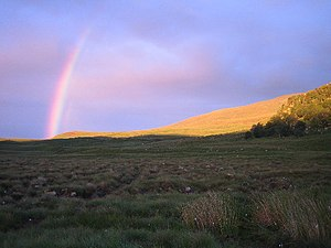 English: Rainbow. At 10pm a rainbow tries to b...