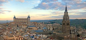 A 4 x 1 segment panorama of the Toledo Skyline...