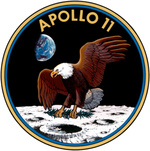 mission patch of Apollo 11
