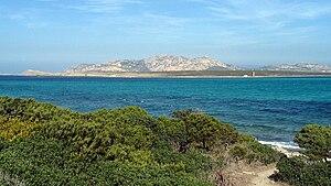 Asinara Island, view from Stintino beach