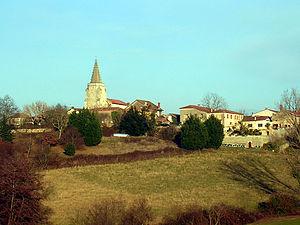 Vue du village de Brassempouy, en Chalosse (dé...