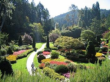 """Garden """"butchart gardens"""", Vancouver..."""